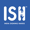 India Signing Hands (ISH) Logo