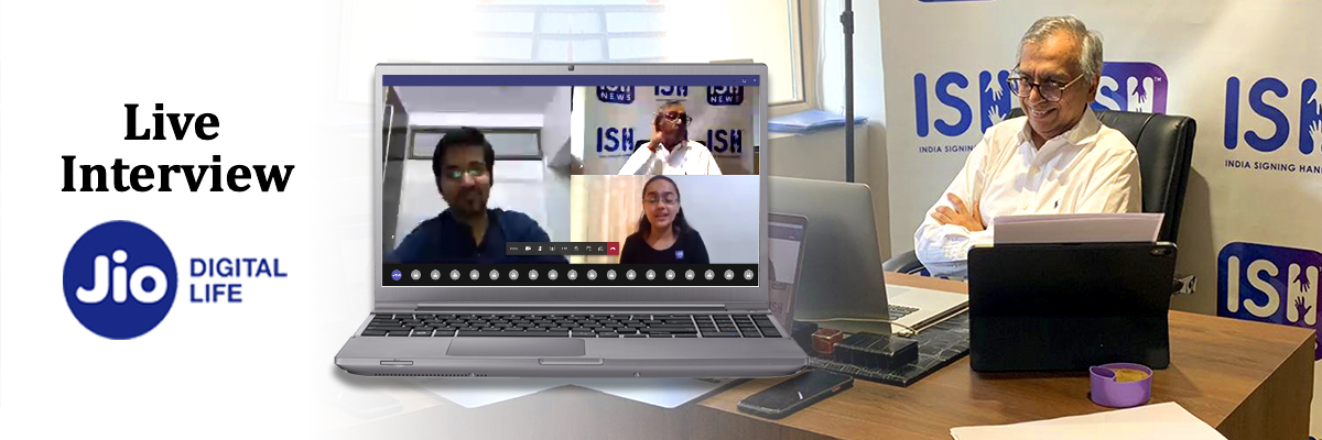 Live Interview on Jio Digital Life-Banner